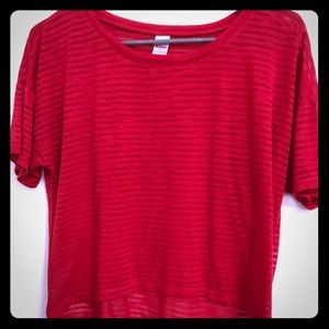 Bongo Red Cropped Top Large